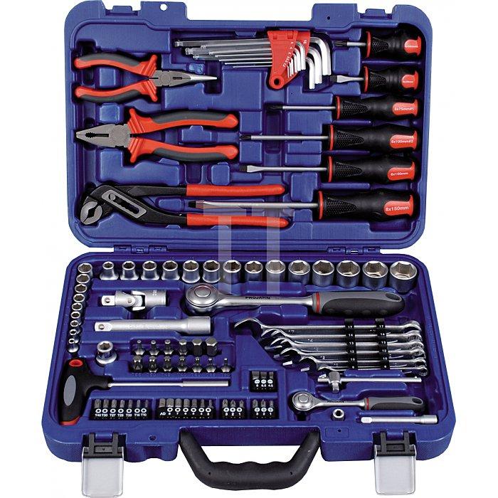Projahn 1/4 Zoll + 1/2 Zoll proficraft Werkzeugsatz 91-tlg. 72 Zahn Knarren 8656