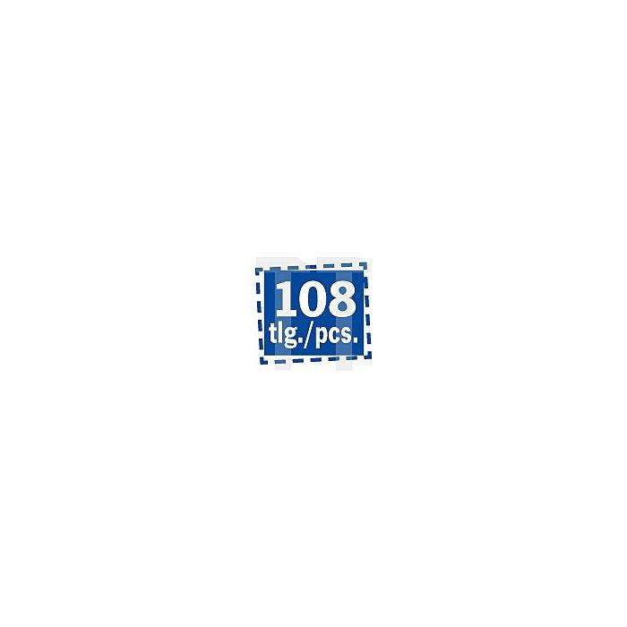 Projahn 1/4 Zoll +1/2 Zoll Steckschlüssel-Satz 108-tlg. proficraft 8653