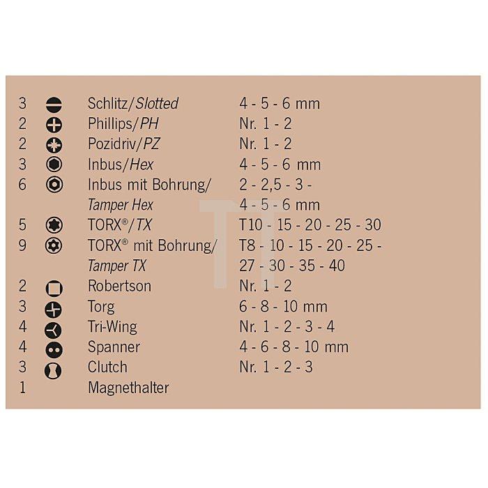 Projahn 1/4 Zoll Bit-Box 50-tlg. 75mm 3790