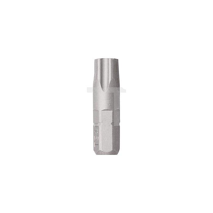 Projahn 1/4 Zoll Bit L25mm 5-Stern TS27 mit Bohrung 2885