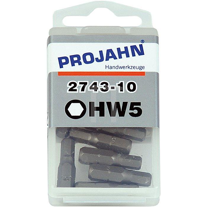 Projahn 1/4 Zoll Bit L25mm Innen-6-kant 5mm 10er Pack 2743-10
