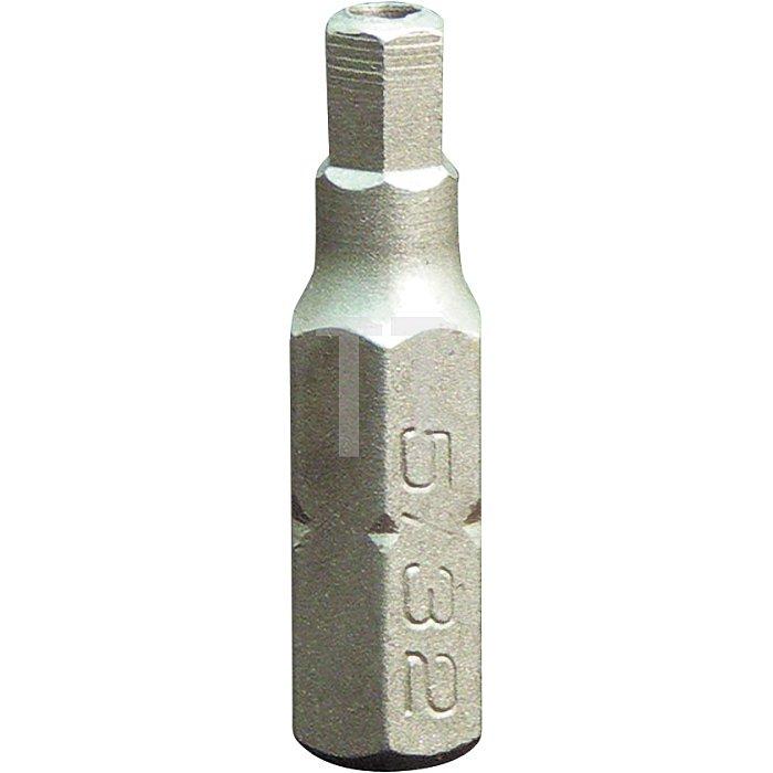 Projahn 1/4 Zoll Bit L25mm Innen-6-kant mit Bohrung 6mm 2681