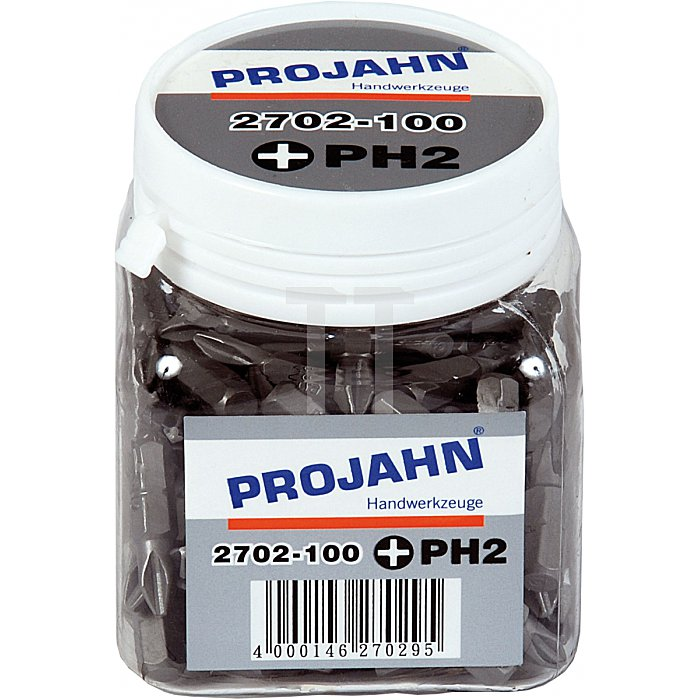 Projahn 1/4 Zoll Bit L25mm Phillips Nr.2 100er Pack 2702-100