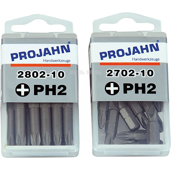 Projahn 1/4 Zoll Bit L25mm Phillips Nr.2 10er Pack 2702-10