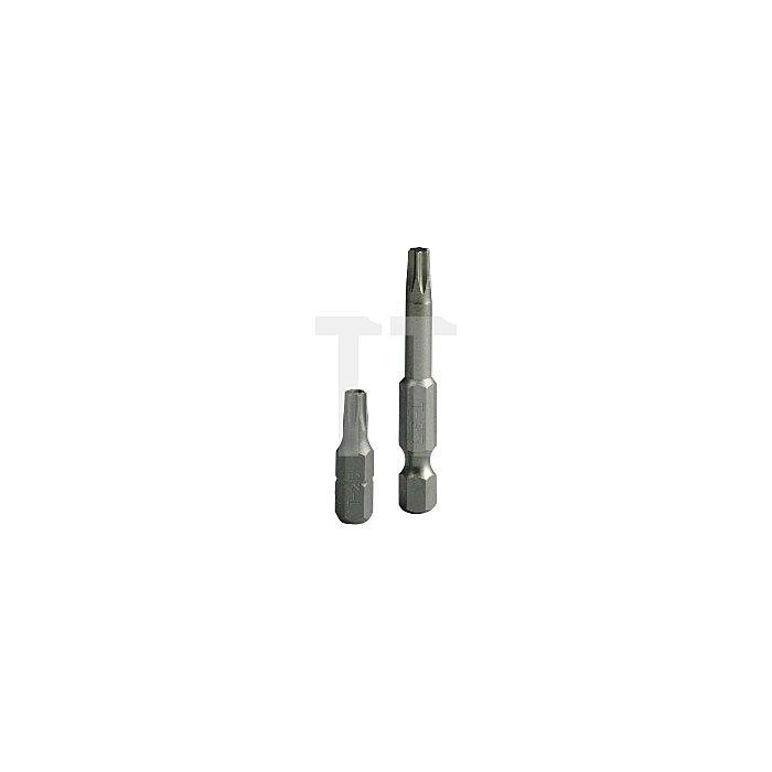 Projahn 1/4 Zoll Bit L25mm TX mit Bohrung T10 2751
