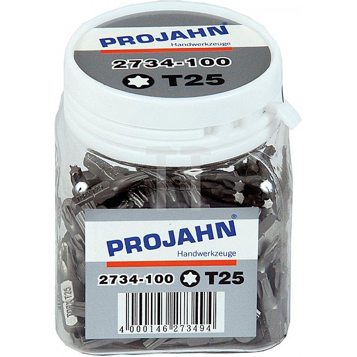 Projahn 1/4 Zoll Bit L25mm TX T20 100er Pack 2733-100