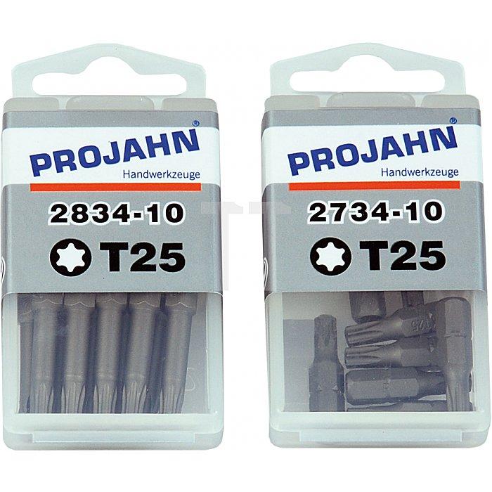 Projahn 1/4 Zoll Bit L25mm TX T8 10er Pack 2738-10