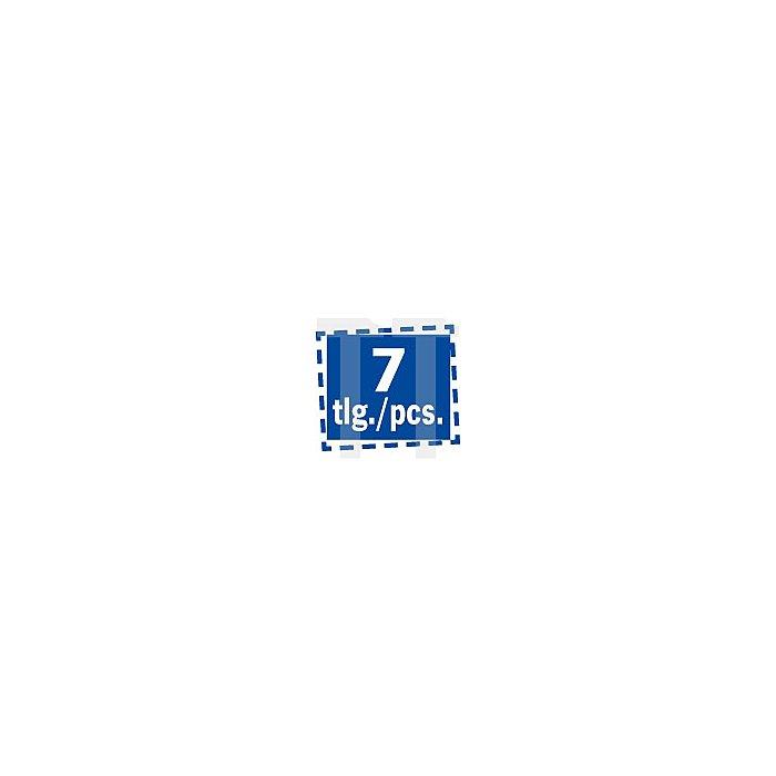 Projahn 1/4 Zoll Bit-Satz L25mm TX mit Bohrung T10 - T40 7-tlg. 2758