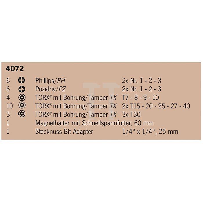 Projahn 1/4 Zoll Kombi-Bit-Box 31-tlg. 4072