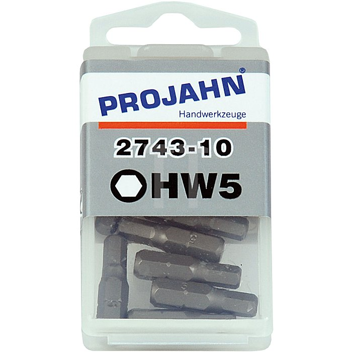 Projahn 1/4 Zoll Kugelkopf Bit L25mm 4mm 10er Pack 2784-10