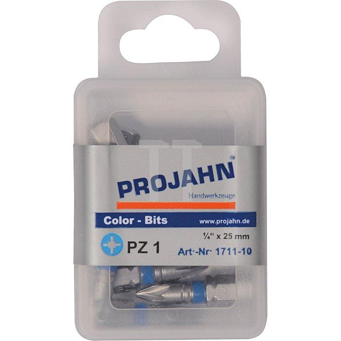 Projahn 1/4 Zoll markierter Bit L25mm Pozidriv Nr.1 10er Pack 1711-10