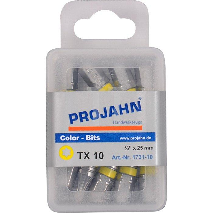 Projahn 1/4 Zoll markierter Bit L25mm TX T25 10er Pack 1734-10