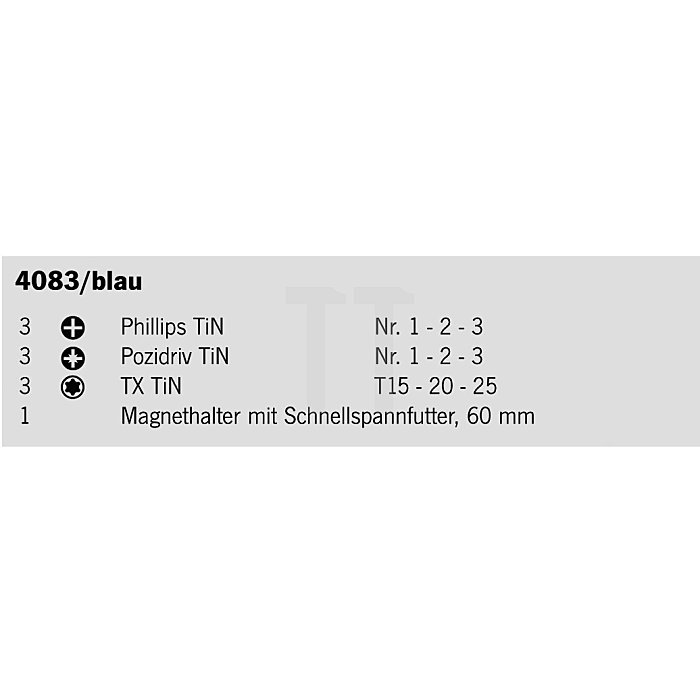 Projahn 1/4 Zoll TiN Bit-Box 10-tlg. 4083