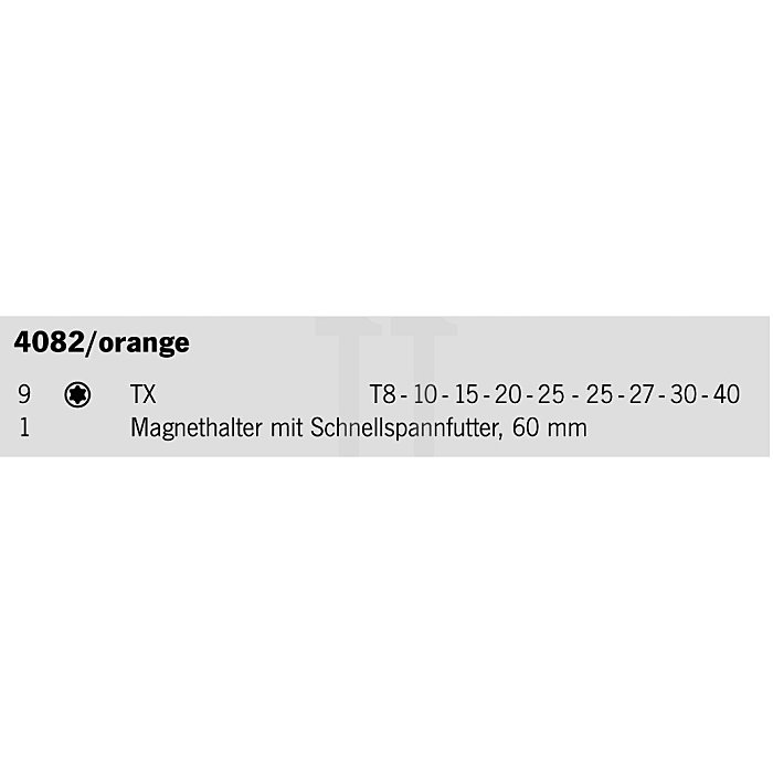 Projahn 1/4 Zoll TX Bit-Box 10-tlg. 4082