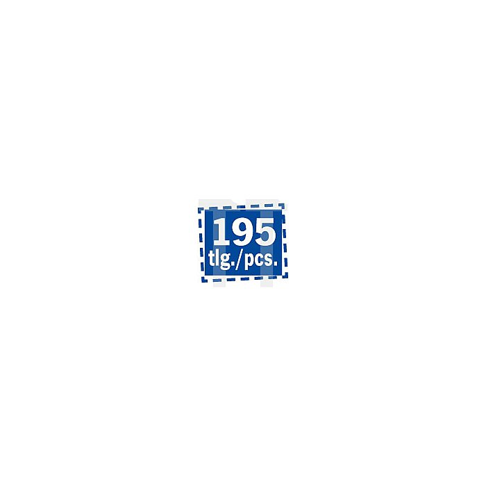 "Projahn 1/4"" + 3/8"" + 1/2"" Professional Steckschlüssel-Koffer 195-tlg. 39048202"