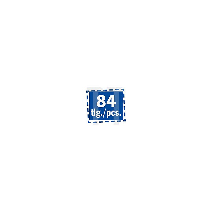 """Projahn 3/8"""" Professional Universal Werkzeugkoffer 84-tlg. 3903803"""