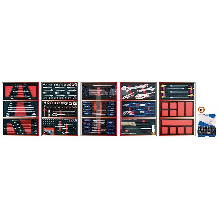 Projahn Bestückter Werkstattwagen Super Blue mit 7 Schubladen 230-tlg. 5901-542