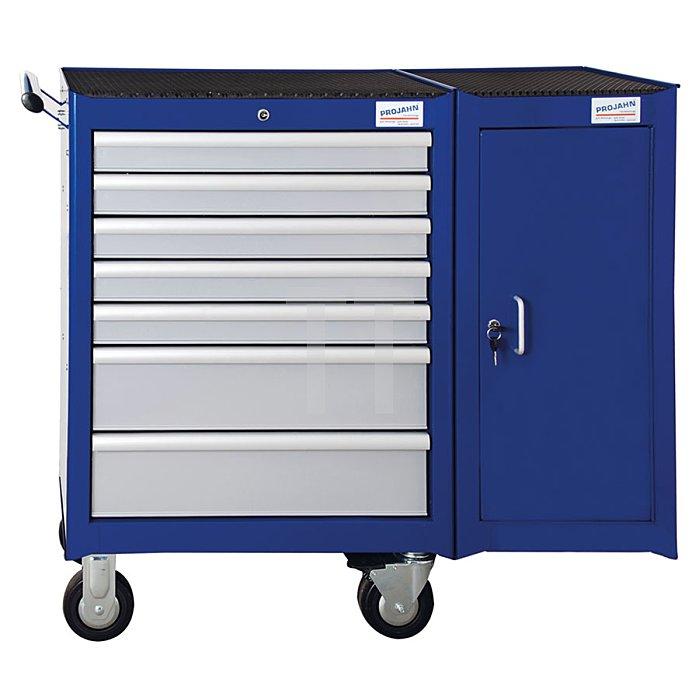 Projahn Bestückter Werkstattwagen Super Blue mit 7 Schubladen 320-tlg. & Seitenschrank 5901-543