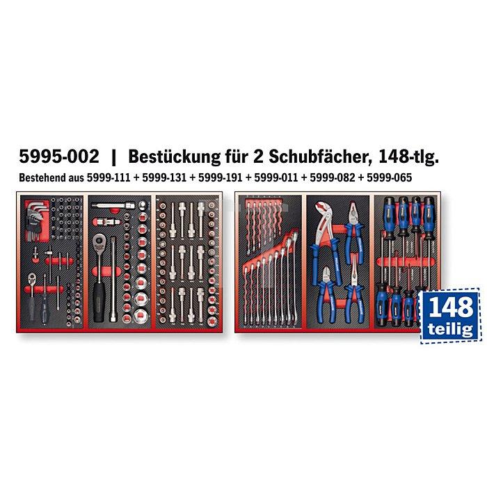 Projahn Bestückter Werkstattwagen Superior mit 7 Schubladen 139-tlg. 6911-102