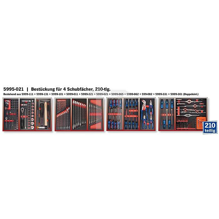 Projahn Bestückter Werkstattwagen Zoll ECOBlue 202-tlg. 4901-521