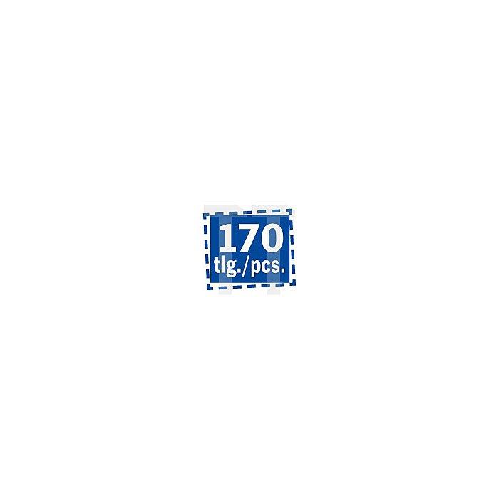 Projahn Bohrer-Magazin Kunststoff HSS-R 170-tlg. 1-10/05mm ECO 67600