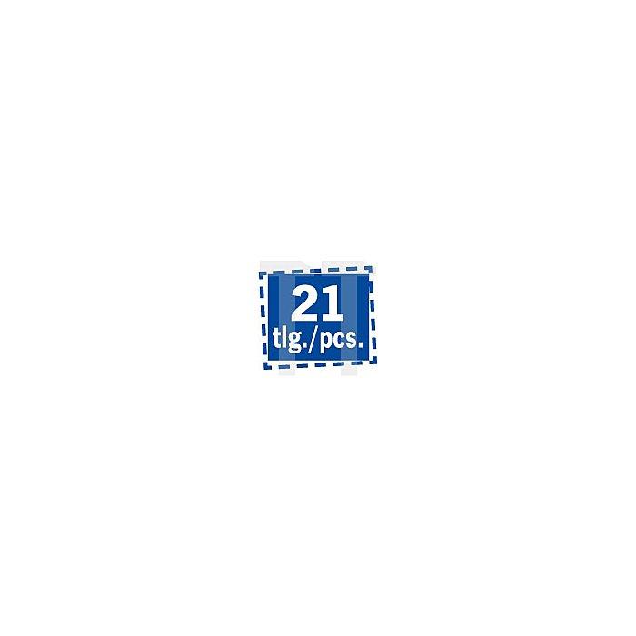 Projahn Bohrerkassette HSS-Co UF-L DIN1897 21-tlg. 2-102/05mm 60844