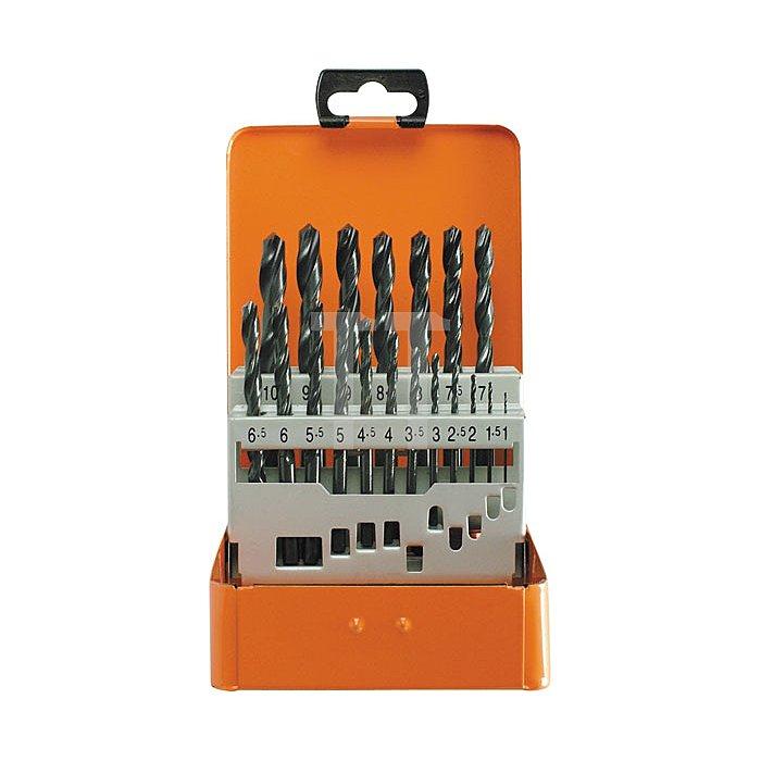 Projahn Bohrerkassette HSS-R 19-tlg. 1-10/05mm BASIC 60003