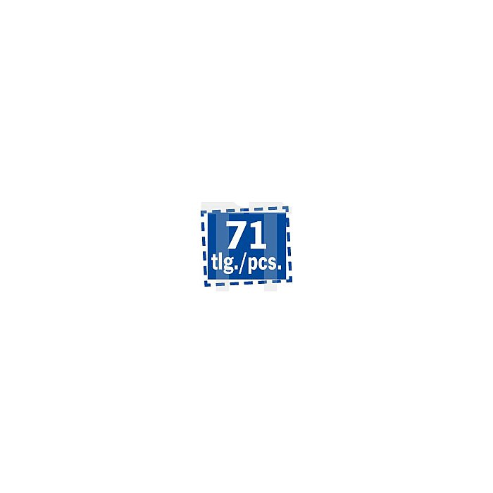 Projahn Doppelgabelschlüssel Display 71-tlg. 11812-42