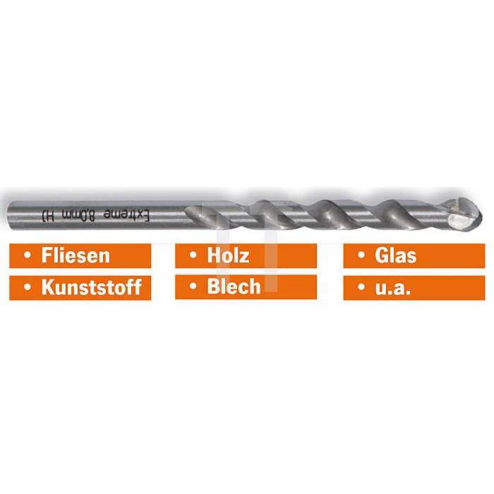 Projahn EXTREME Fliesenbohrer 80mm AL 75mm GL 125mm 597080
