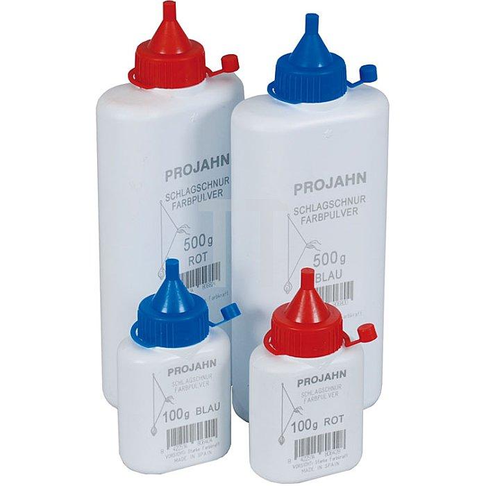 Projahn Farbpulverflasche 100g rot für Schlagschnurroller 2393-2