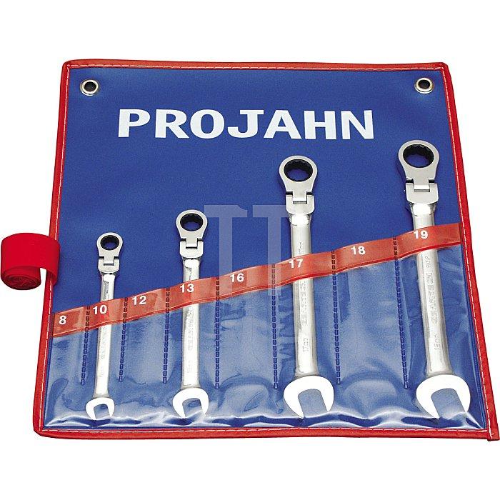 Projahn GearTech Schlüssel-Satz in flexibler Rolltasche 4-tlg. 3496