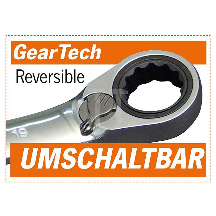 Projahn GearTech Stubby Schlüssel 18mm umschaltbar 3918S
