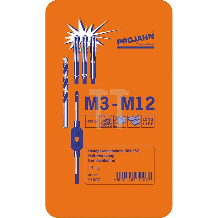 Projahn Gewinde Bohrzeug-Satz HSS-G 30-tlg. M3-M12 91007