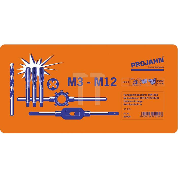 Projahn Gewinde Schneidzeug-Satz HSS-G 44-tlg. M3-M12 91004