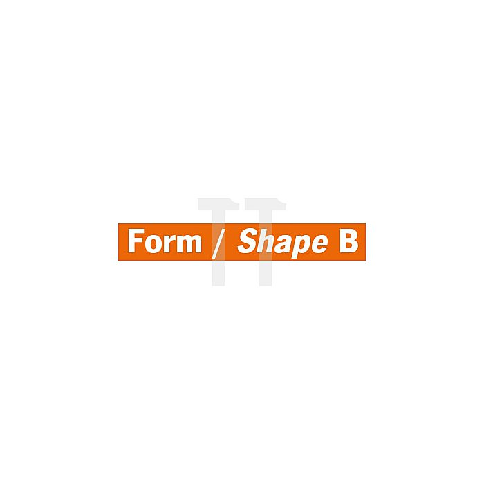 Projahn Hartmetallfräser Form B Zylinder mit Stirnverzahnung d1 12.7mm Schaftdurchmesser 6.0mm Kreuzverzahnung 700266127