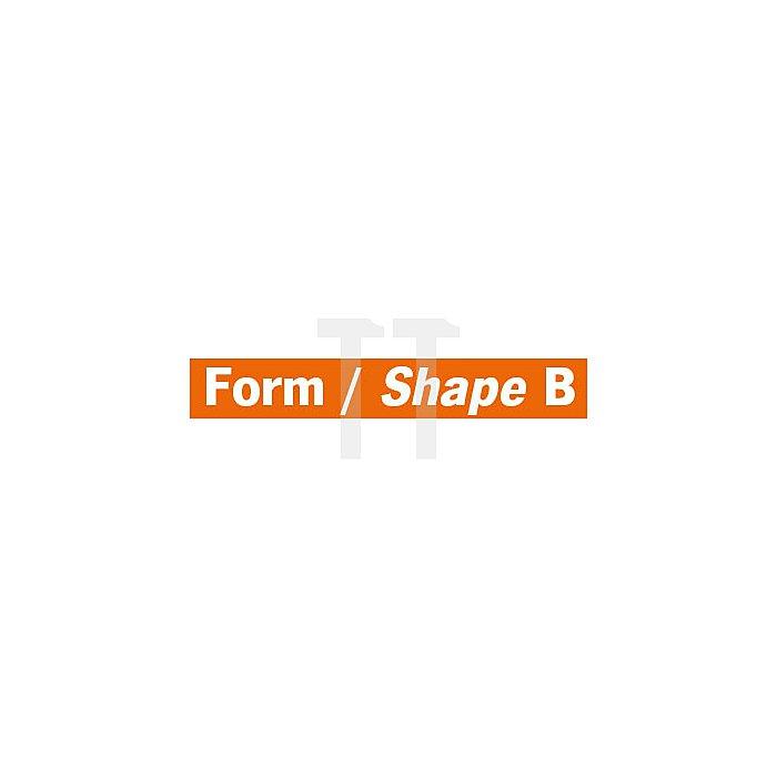 Projahn Hartmetallfräser Form B Zylinder mit Stirnverzahnung d1 16.0mm Schaftdurchmesser 6.0mm Kreuzverzahnung 700266160