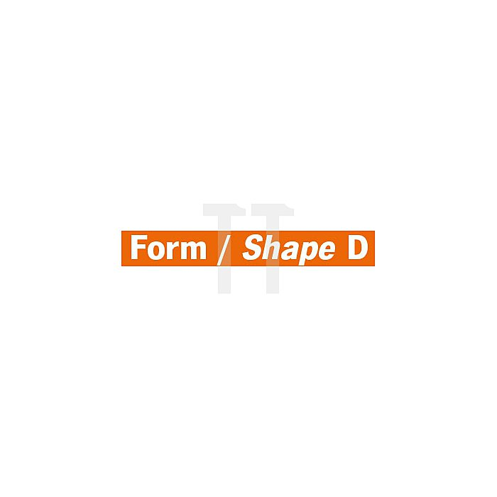 Projahn Hartmetallfräser Form D Kugel d1 6.3mm Schaft-Ø 3.0mm Kreuzverzahnung 700463063