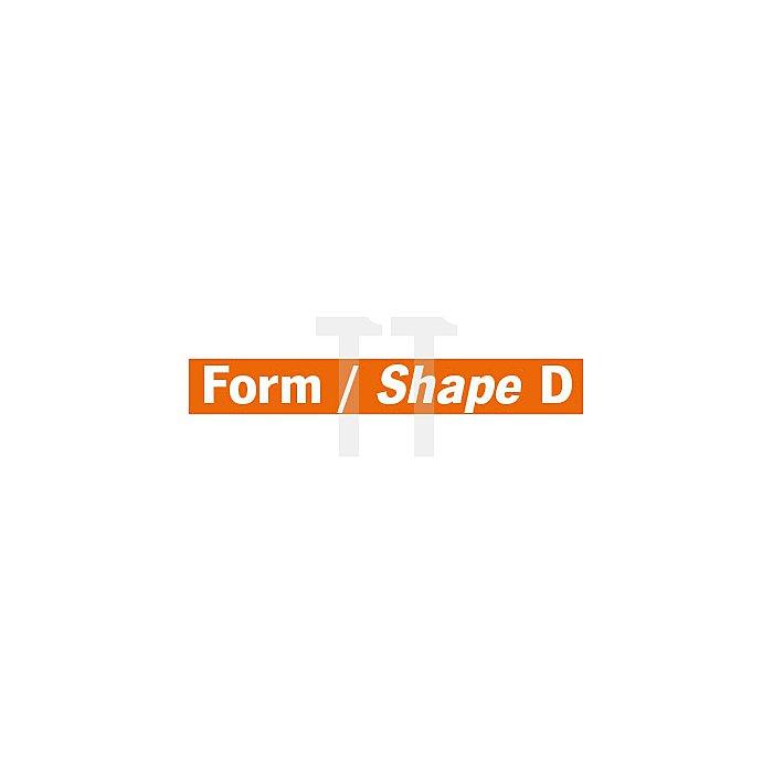 Projahn Hartmetallfräser Form D Kugel d1 9.6mm Schaft-Ø 6.0mm Kreuzverzahnung 700466096