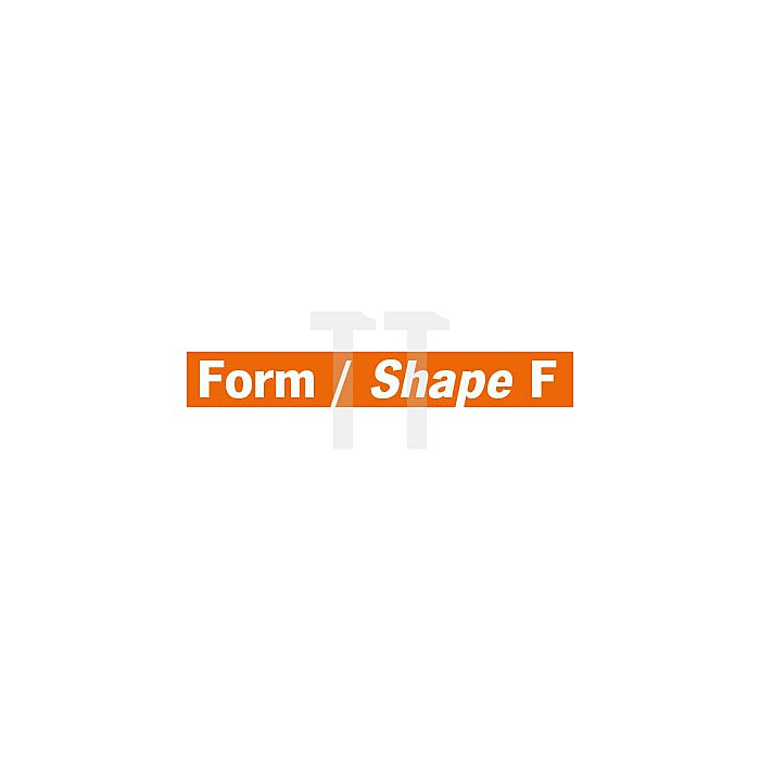 Projahn Hartmetallfräser Form F Rundbogen d1 6.3mm Schaft-Ø 3.0mm Kreuzverzahnung 700663063