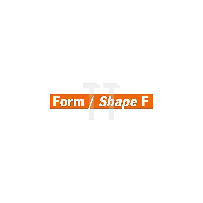 Projahn Hartmetallfräser Form F Rundbogen d1 9.6mm Schaft-Ø 6.0mm Kreuzverzahnung 700666096