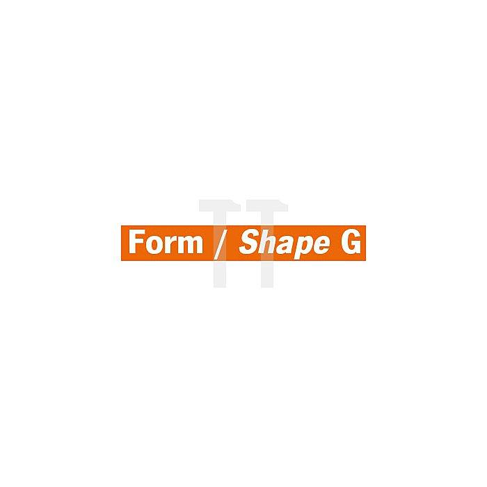 Projahn Hartmetallfräser Form G Spitzbogen d1 16.0mm Schaft-Ø 6.0mm Kreuzverzahnung 700766160