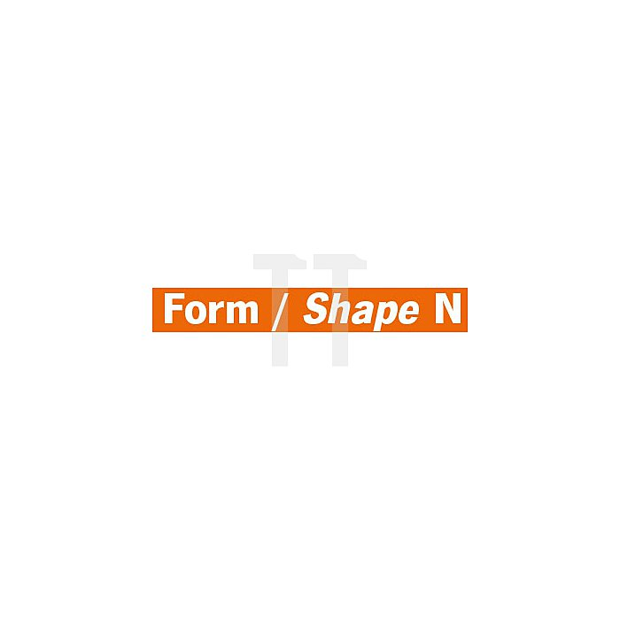 Projahn Hartmetallfräser Form N Winkel 12° d1 6.3mm Schaft-Ø 3.0mm Kreuzverzahnung 701463063