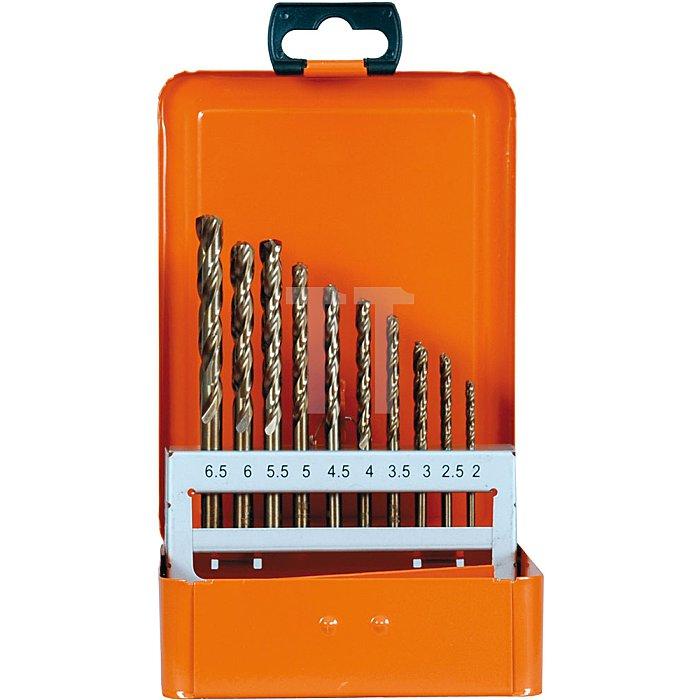 Projahn Kassette 1plus DIN 338 HSS-Co 5 % 36-tlg. je 5 Stück: 2 - 25 - 3 - 35mm je 3 Stück: 4 - 45 - 5 - 55mm je 2 Stück: 6 - 65mm 60668