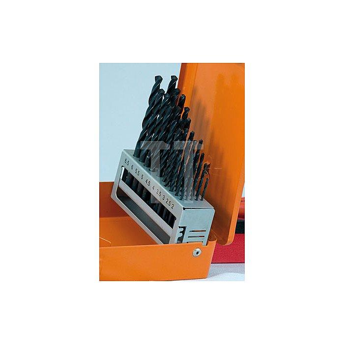 Projahn Kassette 1plus DIN 338 HSS-R 36-tlg. je 5 Stück: 2 - 25 - 3 - 35mm je 3 Stück: 4 - 45 - 5 - 55mm je 2 Stück: 6 - 65mm 60666