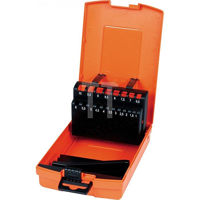 Projahn Kassette Kunststoff 19-tlg. 1-10mm leer Farbe orange 670191