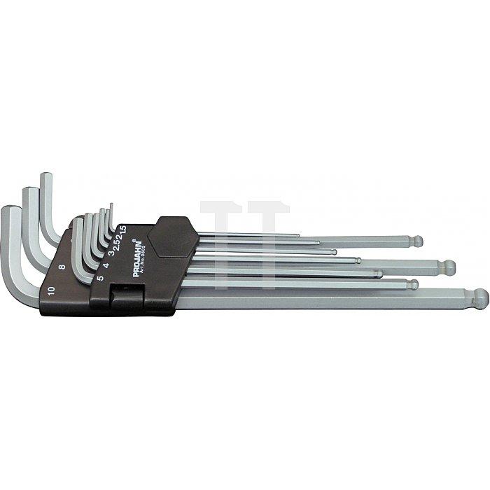 Projahn Kugelkopf-Stiftschlüssel-Satz Inbus 15-10mm 9-tlg. 3602