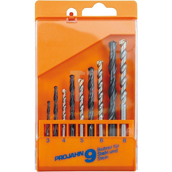 Projahn Kunststoffkassette Stahl/Stein 9-tlg. 3-8/4-8mm 67030