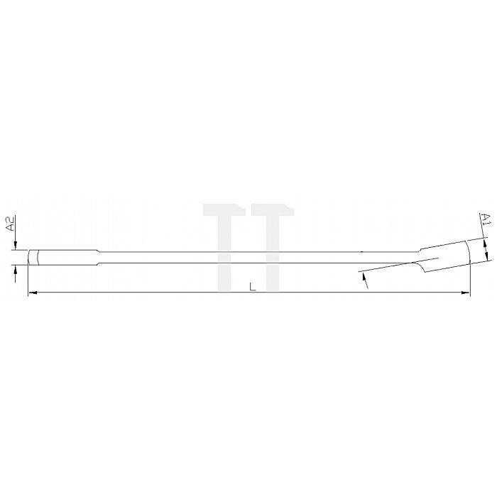 Projahn Langer Gabelringschlüssel 17mm L261mm 25171
