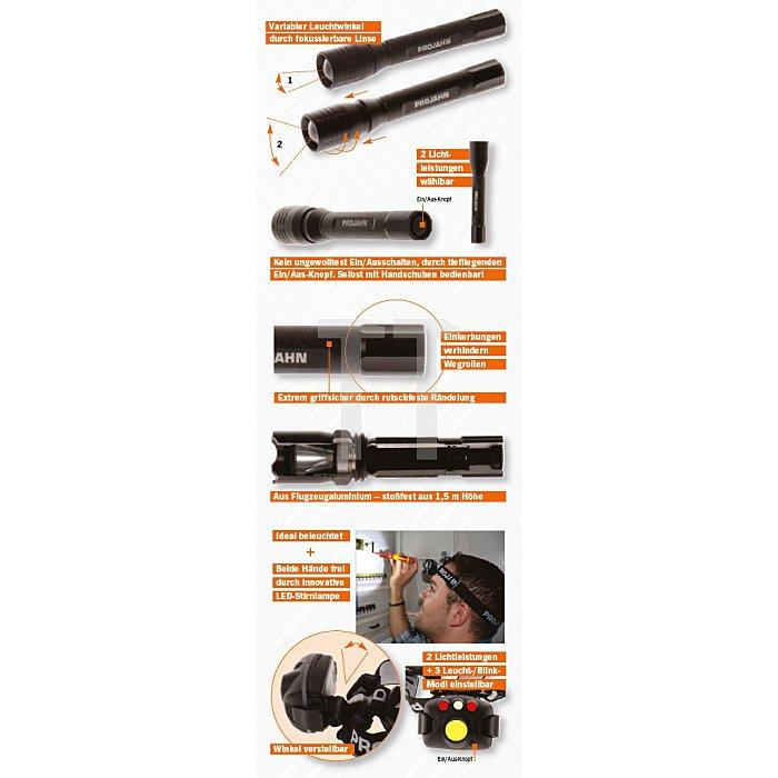 Projahn LED Hochleistungs-Taschenlampe PJ220 - 4AAA 398212
