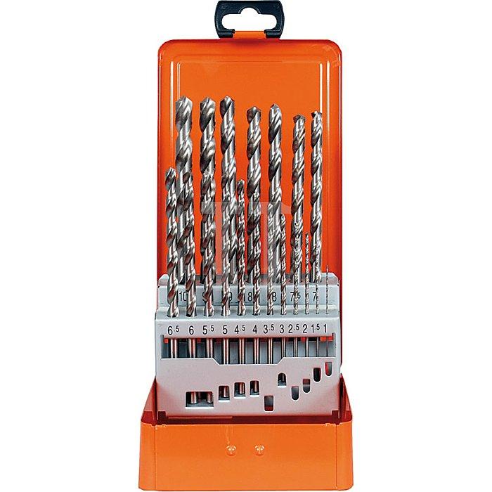 Projahn Metallkassette DIN 340 HSS-G 19-tlg. 1-10/05mm 60830